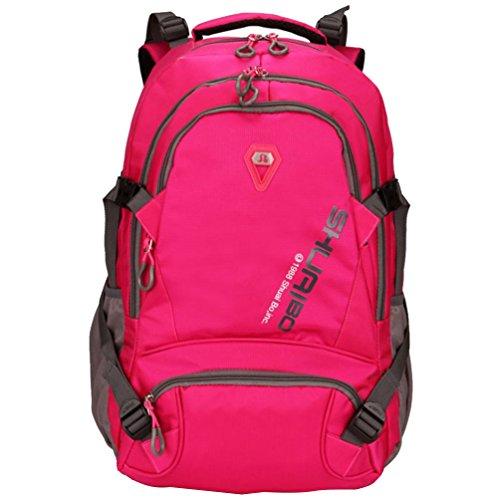 Baymate Unisex College Laptop Rucksack Wasserdicht Reisen Wandern Rucksack Wochenende Draussen Tasche Pink
