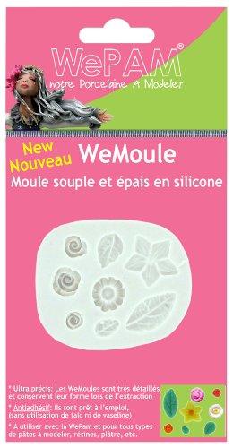 Cleopatre WeMoule - Molde de silicona para moldar varios rosas y flores con porcelana fría