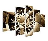 islandburner Bild Bilder auf Leinwand Propeller Flugzeug Motor MF XXL Poster Leinwandbild Wandbild Dekoartikel Wohnzimmer Marke