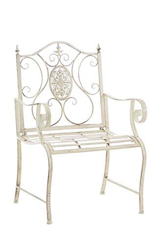 SIKALO Gartenstuhl aus Eisen, robust und pflegeleicht, romantischer Outdoor-Stuhl Balkonstuhl...