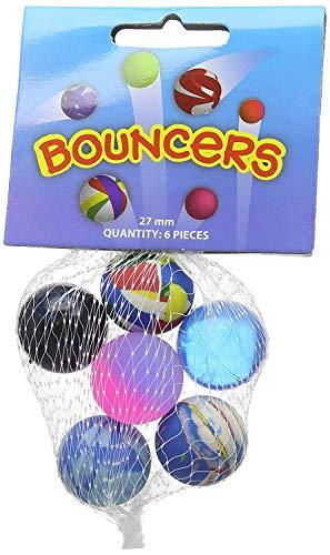 Lyanther Bouncy Ball Kinder Spielzeug Mini Gummi Jet Rubber Swirl High Bouncing Bälle für Kinder 15 X Mischfarbe