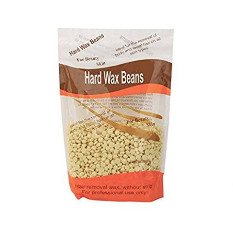 Hair removal Wax Beans! Xshuai® No Strip Depilatory Hot Film Hard Wax Pellet Waxing Used on Bikini Underarm Chest Back Legs and Arms Hair Removal (B)