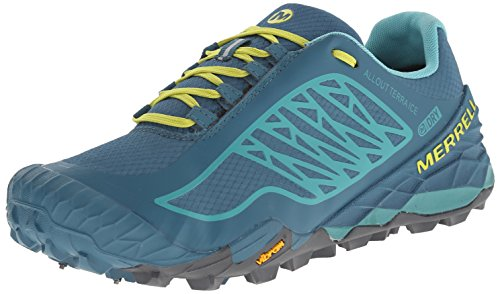 Merrell All Out Terra Ice Wtpf, Chaussures de Trail femme Dragonfly/Bright Yellow