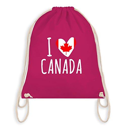 I love - I love Canada - Unisize - Fuchsia - WM110 - Turnbeutel & Gym Bag