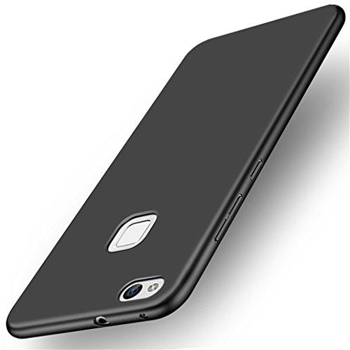 Yoowei Custodia Huawei P10 Lite, Cover Huawei P10 Lite Alta qualità Ultra Sottile Piena Protezione PC Shell Duro Retro Custodia per Huawei P10 Lite - Nero