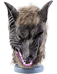 Máscara de Cabeza de Lobo, Adultos y niños. Cabeza de Lobo Animal de látex