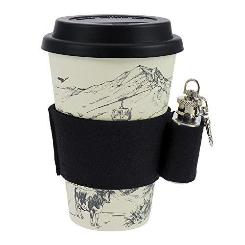 ebos Coffee-to-Go Le gobelet du Bambou (Le Bonheur des Alpes/Mini flasque pour la Hanche)