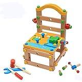 Giocattolo di combinazione del dado del bambino di legno Sedia di lavoro Istruzione precoce Migliorare la capacità pratica , picture color