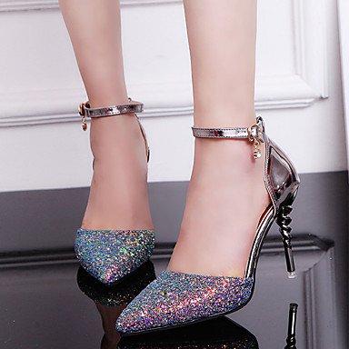 pu Littledevil komfort outddor stöckelabsatz sandalen Damen Weiß 7UwUqFt4