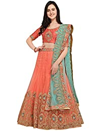 6a3c6f0256f Aasvaa Pink Color Nett Embroidered Semi-Stitched Lehenga Choli  (NMMY16A783PINK)