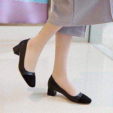 Talloni delle donne Primavera Estate Autunno Inverno Comfort Light Suole PU ufficio & carriera basso casuale tacco Chunky Black