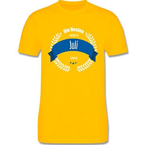 Geburtstag - Die besten werden im Juli geboren - Herren Premium T-Shirt Gelb