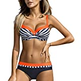 SHE.White Damen Bikini Sets Bademode Badeanzug Push Up Bikini mit Verstellbarem Schulterriemen