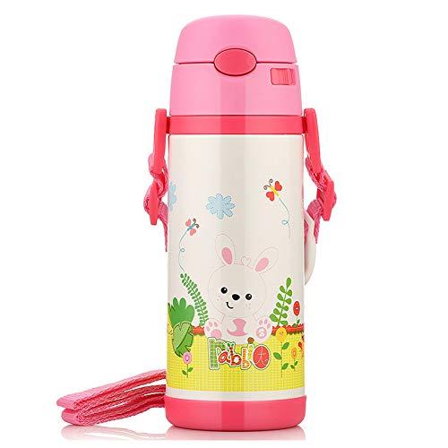 Babybecher Kinderbecher Trinkbecher auslaufsicher Babyflasche Babybecher Babybecher mit Strohhalm-red