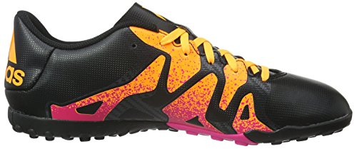 adidas X 15.4 Tf, Chaussures de Football Compétition Homme, Mehrfarbig Schwarz (Core Black/Shock Pink/Solar Gold)