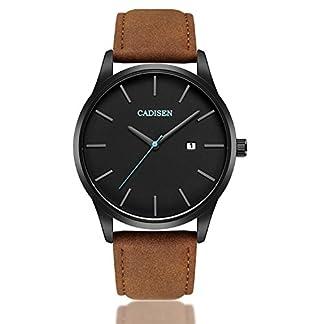 Armbanduhr-Herren-Uhren-Herren-Armbanduhr-Analog-Quarz-Leder-Datum-Business-Fashion-klassischen-Casual-Kleid-Armbanduhr-fr-Herren-braun