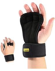 Guantes Para Crossfit 1 par unisex Peso ajustable pesas guantes con relleno anti-sudor para
