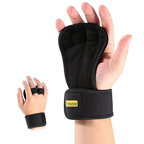 Guantes Para Cross Training 1 par unisex Peso ajustable pesas guantes con relleno anti-sudor para evitar el apoyo callos y neopreno muñeca WODS, entrenamiento de la gimnasia, fitness, Flexión de brazos