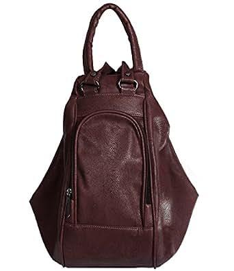 Fristo Women's Backpack Handbag(Frb-076,Brown)