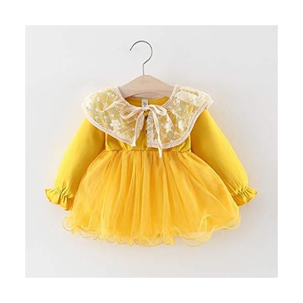 Heetey - Conjunto de Ropa y Abrigo para niña, para bebé, niño, niña, Encaje, Patchwork, Monocromo, Informal, Vestido de… 2