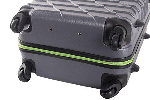 3 piece rigid luggage set PIERRE CARDIN grey cabin baggage