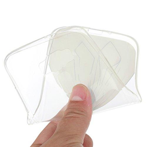 WYSTORE Etui Ultra Mince Housse Silicone Transparent pour Asus Zenfone 3(ZE520KL) Coque de Protection en TPU avec Absorption de Choc Bumper et Anti-Scratch (5.2 Pouces) - A03 A10