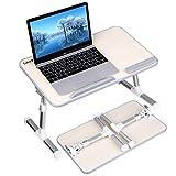 Gladle Höhenverstellbarer Laptoptisch fürs Bett Betttisch, Tragbare klappbarer Notebooktisch für Sofa, Einstellbarer Neigungswinkel Leicht zu bedienen Lapdesk für Laptop, Frühstück Couch Lese Tisch