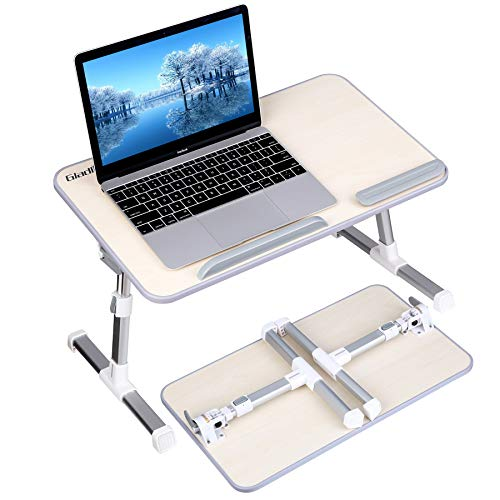 Gladle Bureau de Lit, Portable Réglable Table de Lit PC...