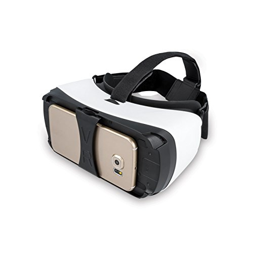 Universal 3D VR Virtual Reality Box Brille Bluetooth 3D VR Karton Video Movie Game Brille Glasses Display virtuelle Realität für 4,5?-5,5? Zoll Handy Android iOS iPhone Samsung Galaxy Sony Xperia Huwei LG HTC