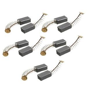 Sourcingmap–® 5pares de 14mm x 8mm x 5mm motor escobillas de carbono para herramienta eléctrica