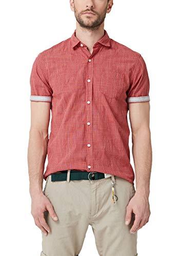 s.Oliver Herren 13.904.22.2270 Freizeithemd, Rot (Cherry 32k3), XXX-Large (Herstellergröße: 3XL)