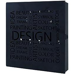 Haku Möbel 44525 Boîte à Clés Acier Noir 5 x 22 x 24 cm