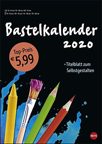 Bastelkalender schwarz A4 Kalender 2020