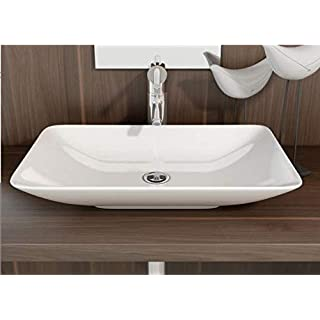 Art-of-Baan® - Design Handwaschbecken Waschbecken Aufsatzwaschbecken Waschtisch Keramik 585 mm x 365 mm x 100 mm (Nova)