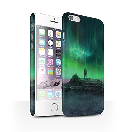 Offiziell Chris Cold Hülle / Matte Snap-On Case für Apple iPhone 6S / Pack 12pcs Muster / Fremden Welt Kosmos Kollektion Polarlicht