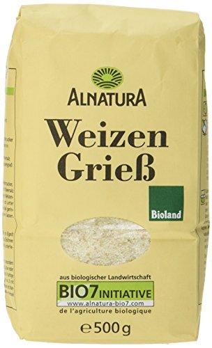 Alnatura Bio Weizengrieß, 6er Pack (6 x 500 g)