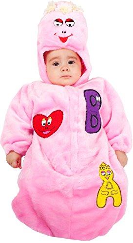 Costume di carnevale da saccottino barbolina vestito per neonato bambino 0-3 mesi travestimento veneziano halloween cosplay festa party 3641 taglia 0-3