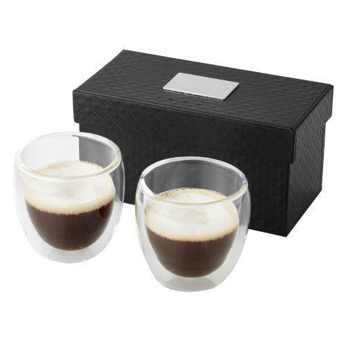 Vasos de Cristal Doble para Espresso - Juego de 2 Tazas de Café