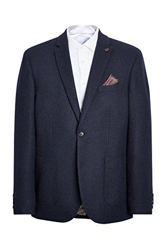 next Herren Slim-Fit Hopsack-Sakko Slim Fit EU 96.5 Regular (UK 38R) Marineblau -