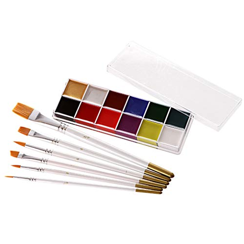 Ölfarbe Gesicht Körper Malerei Pigment Kunst-Thema-Partei Halloween-Abendkleid-Partei bilden Werkzeug ()