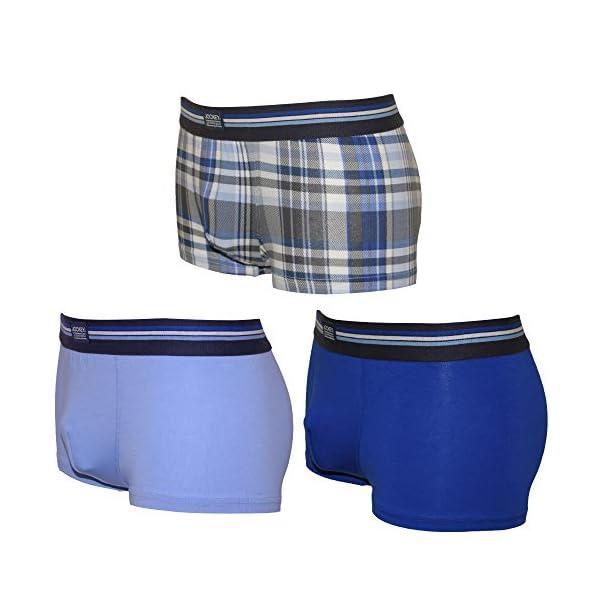 41gaLue2TQL. SS600  - Jockey 3-Pack Comprobar Los Troncos De Los Hombres Boxer En Algodón Estiramiento, Combinación Azul