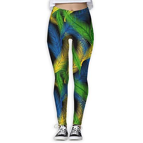 wwoman Mardi Gras Colors Feather Women High Waist Yoga Pants Yoga Capris Pants Printed Workout Leggings Capris Pants,XL (Strumpfhosen Gras Mardi)