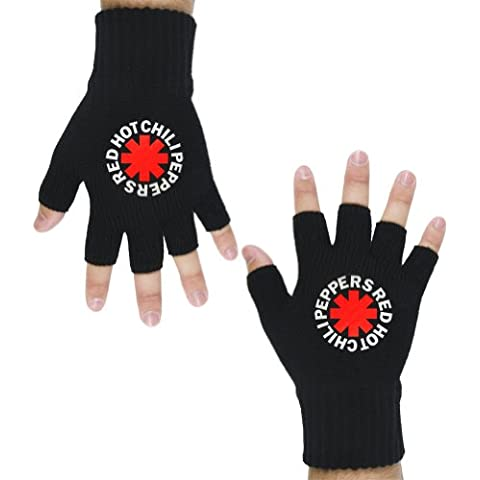 Old Glory Unisex-Adultos Red Hot Chili Peppers - Asterisk Fingerless Gloves