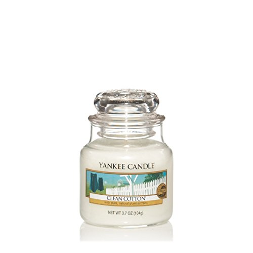 Yankee Candle Glaskerze, klein, Clean Cotton - Candle Yankee Coconut