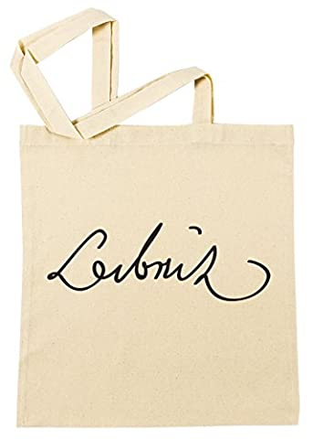 Gottfried Wilhelm Leibniz Signature Sac à Provisions Plage Coton Réutilisable Shopping Bag Beach Reusable