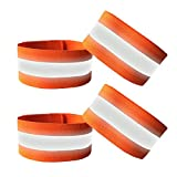 JJunLiM 4PCS High Visibility Reflective Wristbands/Ankle bands/Armbands, Safety Gear for Running, Bike, Dog