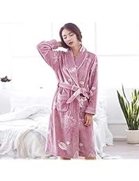 Pajamas Traje de Pijama, algodón con Bolsillos Ms Poliéster Espesar Alargar Estilo Otoño e Invierno Mantener Pijamas cálidos, XL-XXL-XXXL-XXXXL,XXXL