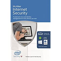 McAfee Internet Security with Latest Updates for Unlimited For Every Device You Own (FFP) (PC/Mac/Android/iOS)