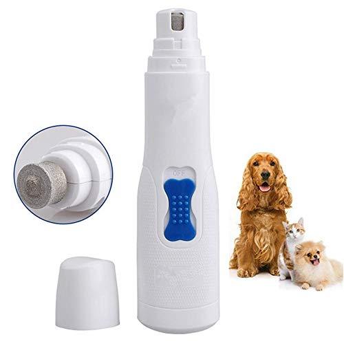 YanYu Haustier Hund elektrische Katze Nagellackierer feinen Diamanten Bohrer Ultra sicher und komfortabel mit Kunststoffkappe (weiß) -