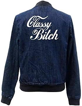 Classy Bitch Bomber Chaqueta Girls Jeans Certified Freak